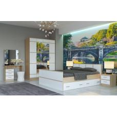 Сакура кровать КР1600 с ящиками (Памир)