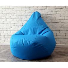 Голубое Оксфорд XL кресло-мешок